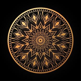 Kwiatowy arabesque circular w ciemności