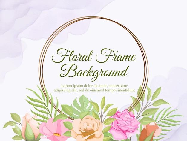 Kwiatowy baner tło dla kobiet i dekoracji ślubnych