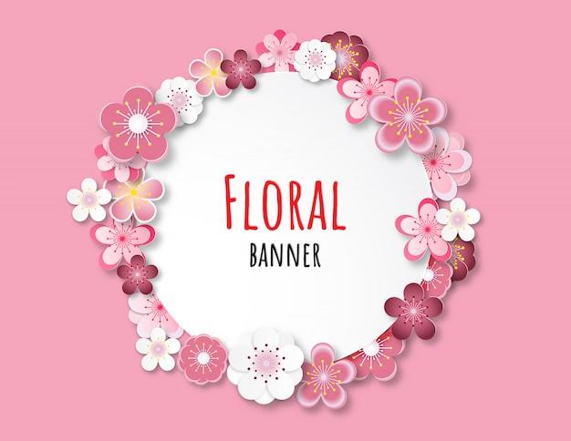 Kwiatowy baner