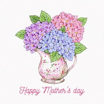 Kwiatowy bukiet na obchody dnia matki