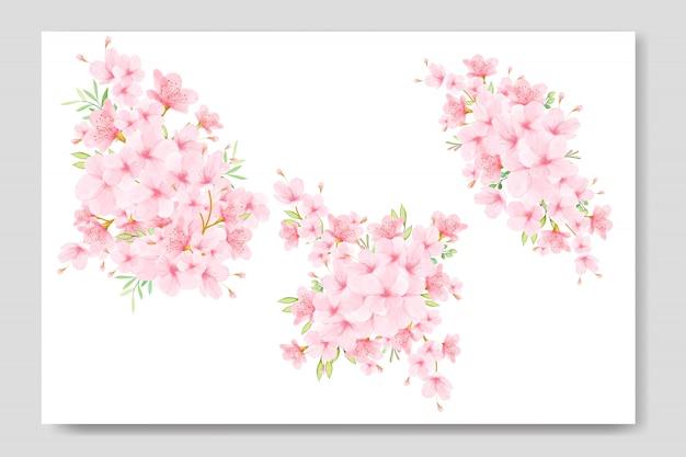 Kwiatowy bukiet z wiśniowego kwiatu