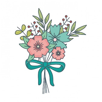 Kwiatowy charakter kwiaty kreskówka