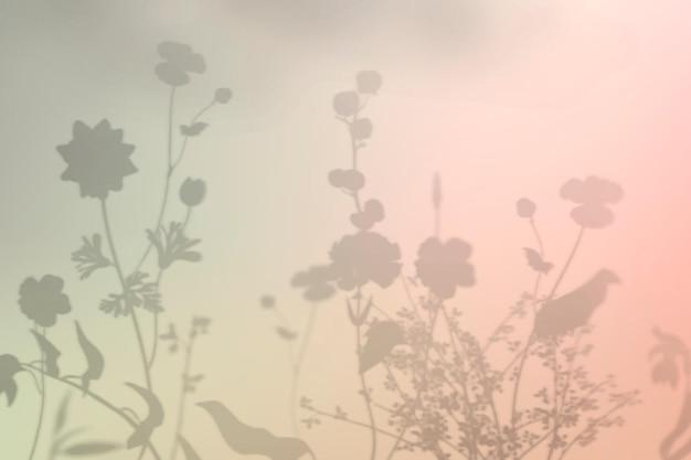 Kwiatowy cień tło wektor kolorowy gradient
