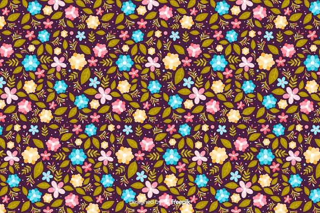 Kwiatowy ditsy kolorowe tło