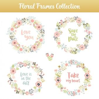 Kwiatowy elementy kolekcji