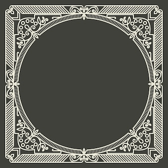 Kwiatowy i geometryczny monogram ramki
