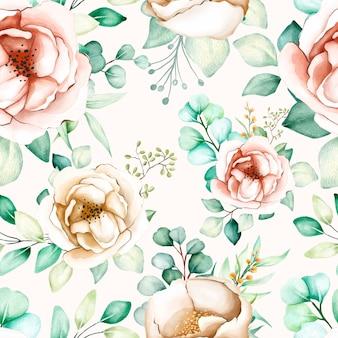 Kwiatowy i liści wzór