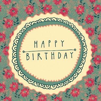 Kwiatowy kartka urodzinowa