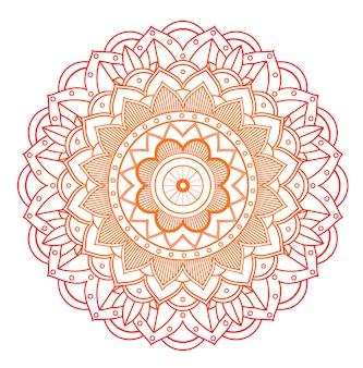 Kwiatowy mandali na białym tle