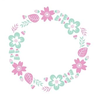 Kwiatowy monogram papieru wyciąć pliki
