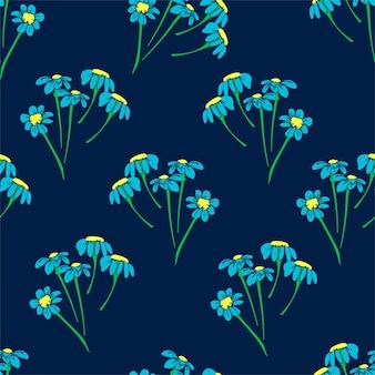 Kwiatowy nadruk na tkaninie. rysowane małe kwiaty piękna ilustracja do tkaniny. zaprojektuj wzór ornament bez szwu. .