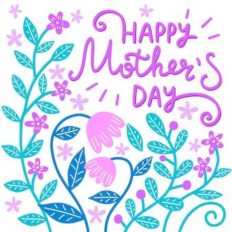 Kwiatowy napis na dzień matki