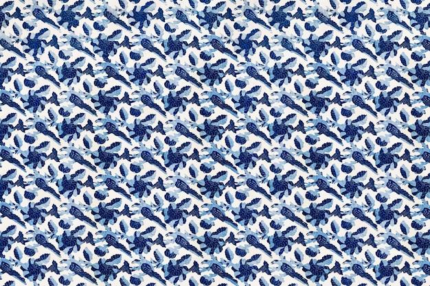 Kwiatowy niebieski styl vintage tło wektor