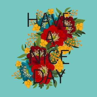 Kwiatowy niesamowity ma ładny design dnia