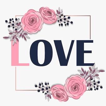 Kwiatowy niesamowity projekt miłości