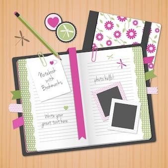 Kwiatowy notebook