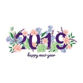 Kwiatowy nowy rok 2019