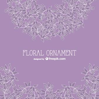 Kwiatowy ornament grafiki wektorowej za darmo