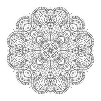 Kwiatowy ornament mandali