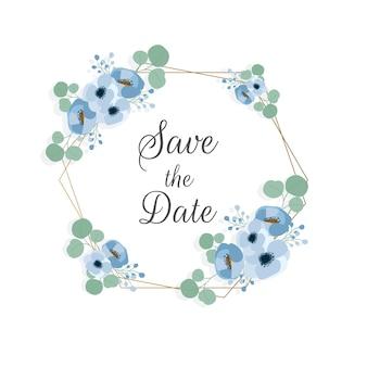 Kwiatowy ornament ramka na temat ślubu