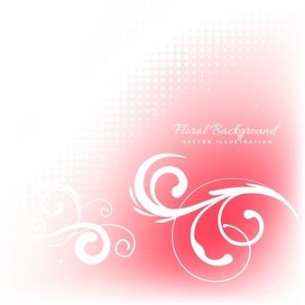 Kwiatowy ornament tło w kolorze czerwonym