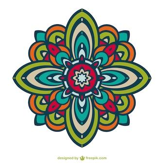Kwiatowy ornament wektor darmo