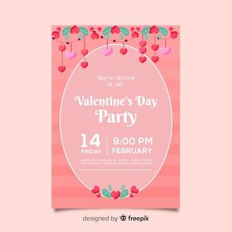 Kwiatowy ornamenty valentine party plakat