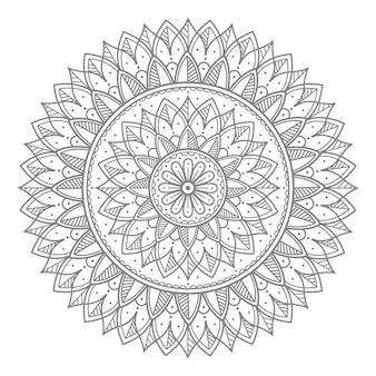 Kwiatowy ozdobny okrągły ornament mandali ilustracja