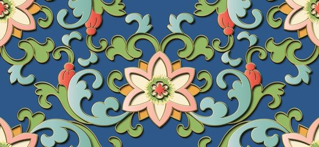 Kwiatowy ozdobny wzór