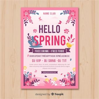 Kwiatowy plakat party wiosna