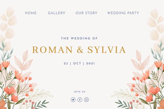 Kwiatowy projekt strony docelowej ślubu