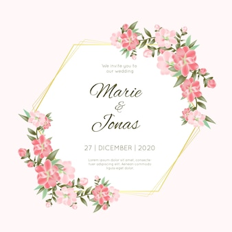 Kwiatowy rama ślubu