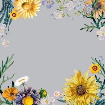 Kwiatowy rama tło