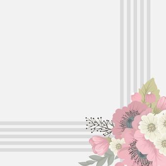 Kwiatowy rama z kolorowy kwiat.