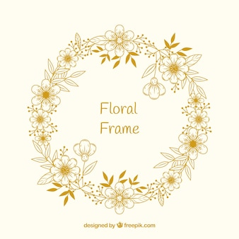 Kwiatowy ramki w stylu wyciągnąć rękę