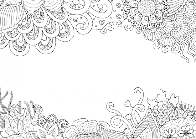 Kwiatowy ramki