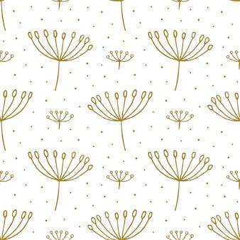 Kwiatowy ręcznie rysowane doodle wzór