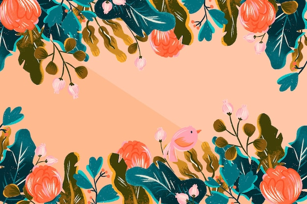 Kwiatowy ręcznie rysowane tła