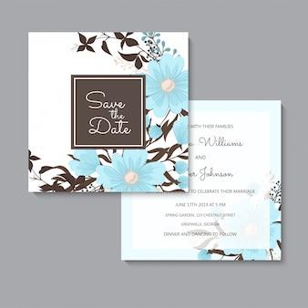Kwiatowy ślub jasnoniebieski kwiatowy