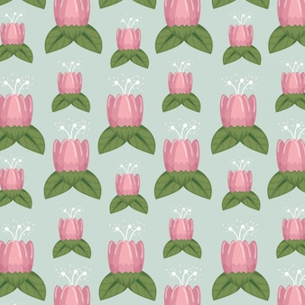 Kwiatowy styl z naturalnymi płatkami i liśćmi tłem