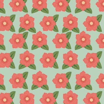 Kwiatowy styl z naturalnymi płatkami tła