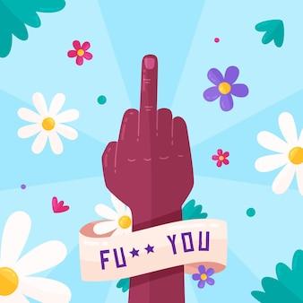 Kwiatowy symbol fuck you