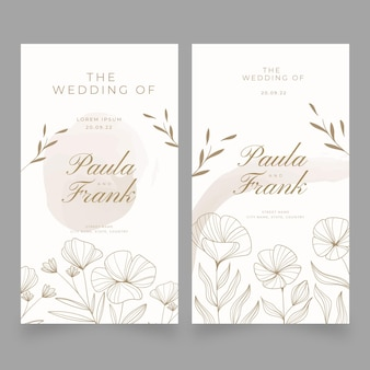 Kwiatowy szablon banerów ślubnych
