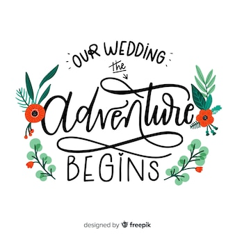 Kwiatowy tło wesele kaligraficzne