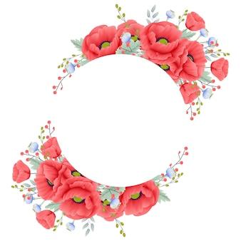 Kwiatowy tło z kwiatem maku