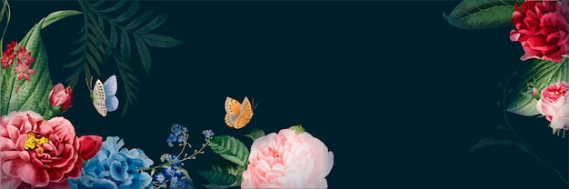 Kwiatowy transparent akwarela