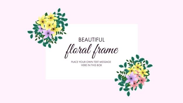 Kwiatowy układ ramek z kwiatów winorośli na kartki z życzeniami weselnymi w mediach społecznościowych