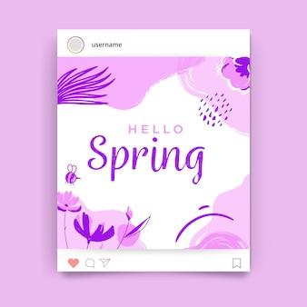 Kwiatowy wiosenny post na instagramie