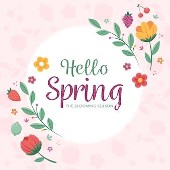 Kwiatowy witaj wiosna tło