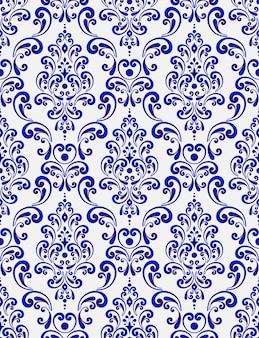 Kwiatowy wzór adamaszku